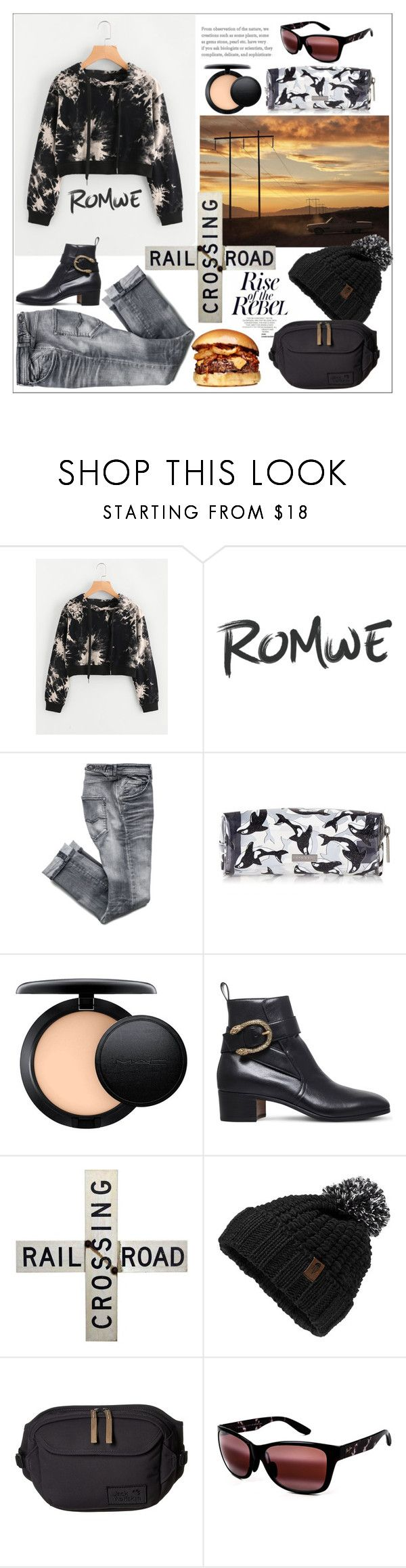 """Romwe"" by natalyapril1976 ❤ liked on Polyvore featuring Anja, MAC Cosmetics, Gucci, The North Face, Jack Wolfskin and Maui Jim"