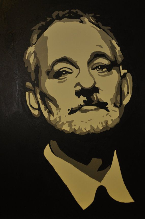 Pop Art Style Painting Of Bill Murray On Etsy 200 00