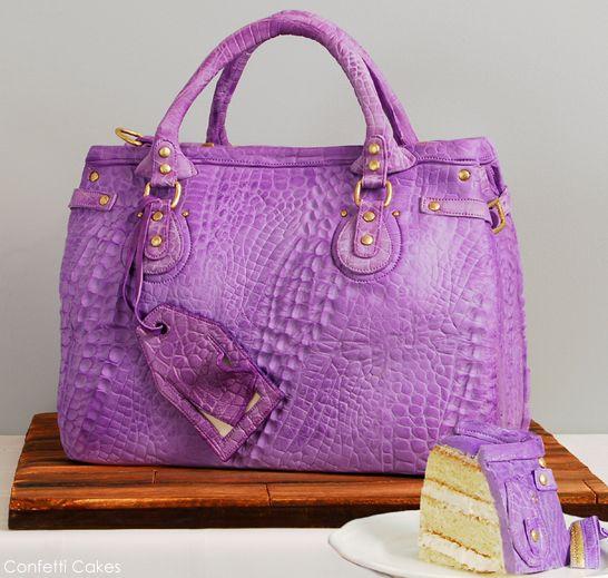 Absolutely amazing cake. The detailing is astonishing.  Designer Handbag CAKE by Confetti Cakes. Thecakeblog.com