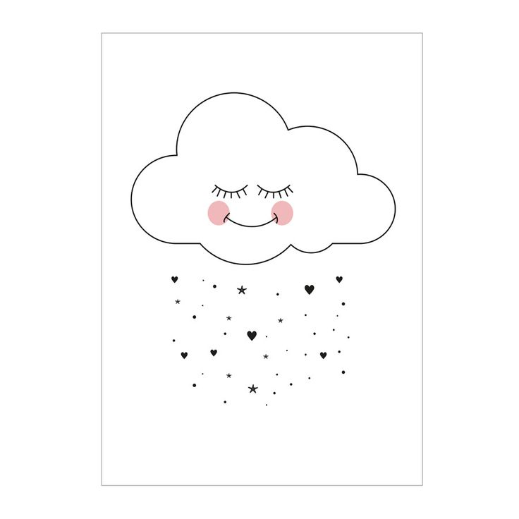 Postcard / Mini Print . Sweet Cloud - A6