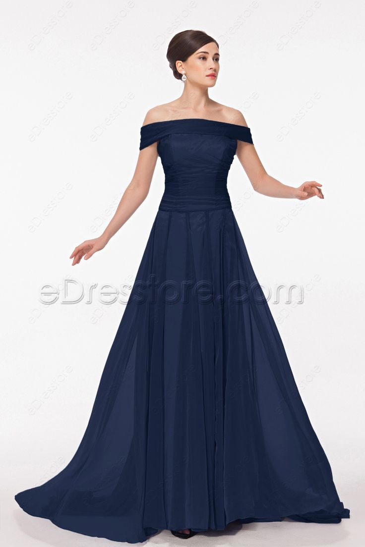 9 best navy bridesmaid dresses images on pinterest navy off the shoulder navy blue mother of the groom dresses ombrellifo Gallery