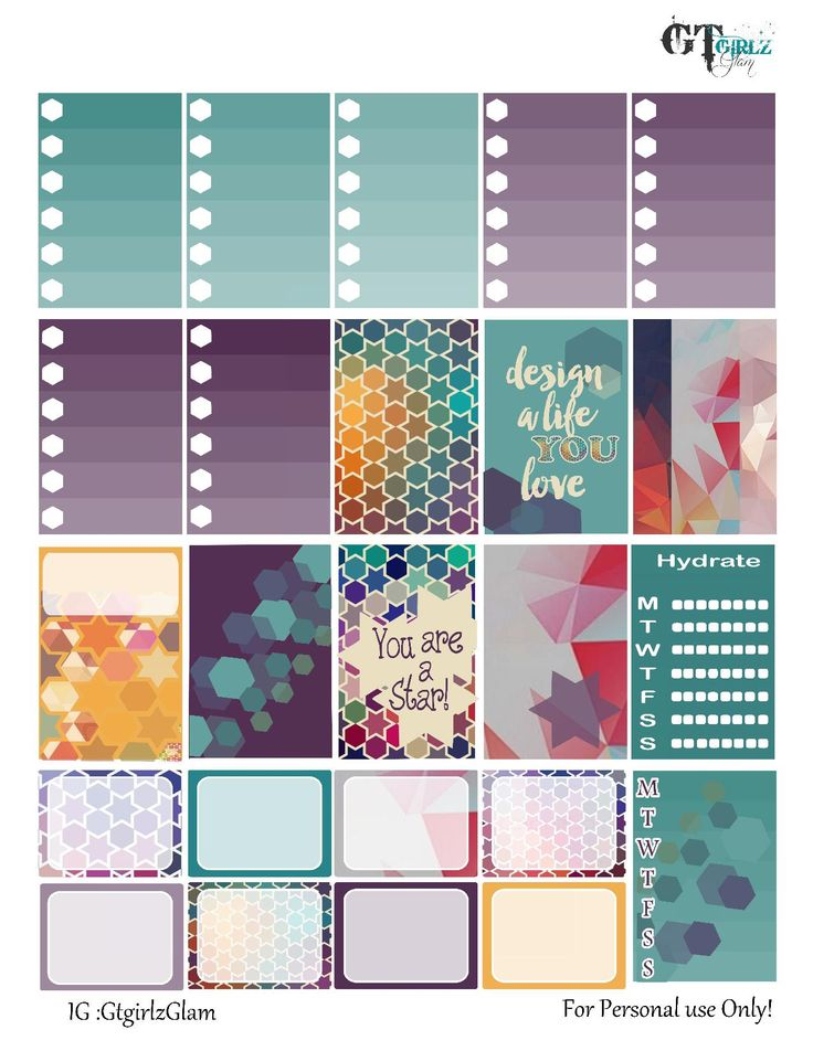 FREE Geo Fun Planner Stickers from gtgirlzblog.wordpress.com