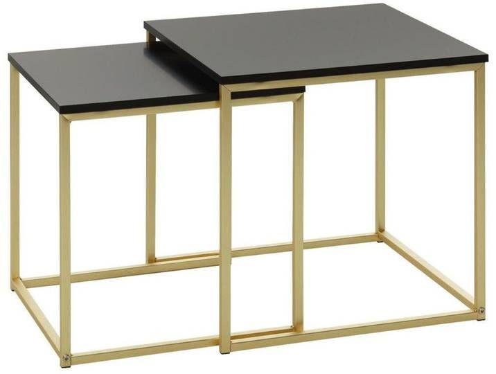 Carryhome Tisch Schwarz B H T 40 42 40 In 2020 Table