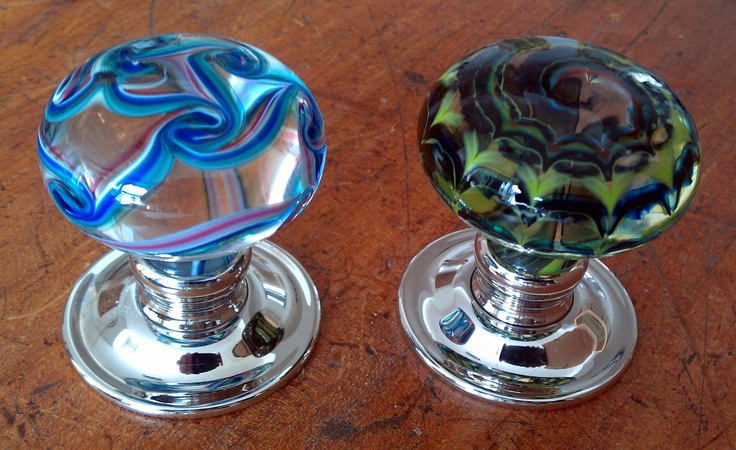 Artisan Glass Door Knobs By Merlin Glass Colored Glass