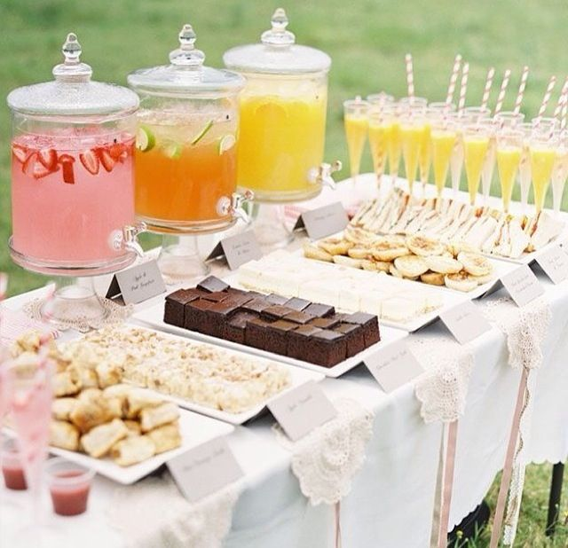 Wedding Food Tables: Dessert Table With Drink Stand