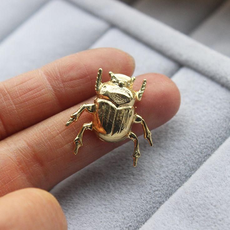 1 Unid Vintage Lindo Escarabajo Insecto Broche, alfileres Y Broches Para Las Mujeres 5 Colores de Joyería de Moda El Amor Natural