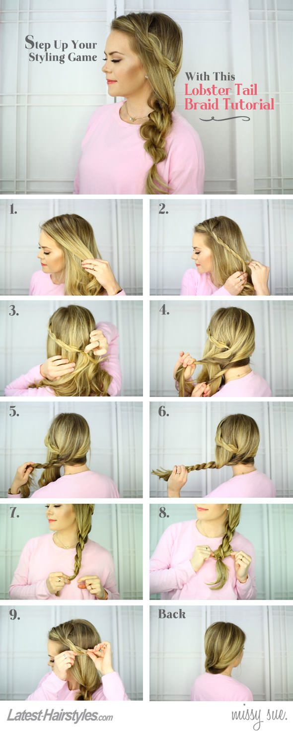 Lobster Tail Braid Hair Tutorial