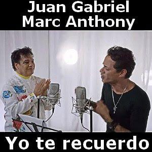 Acordes D Canciones: Juan Gabriel - Yo te recuerdo ft. Marc Anthony