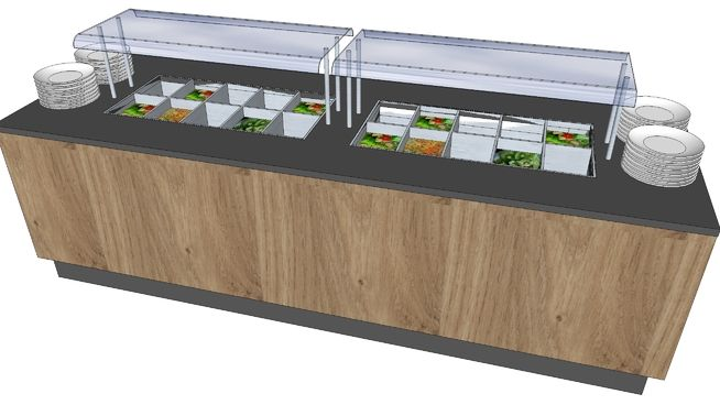 Large preview of 3D Model of saladebuffet