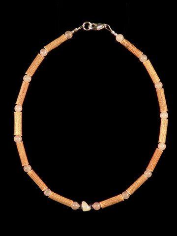 Teething Hazelwood Necklace with Rose Quartz beads