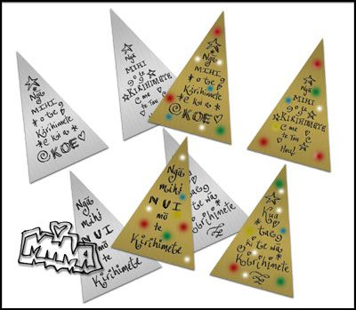 Maori Printables: Christmas Triangle Tags