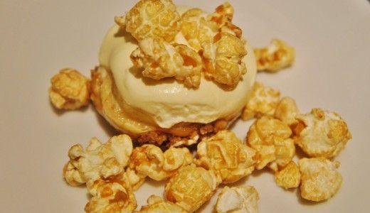 Mini Banoffe Pie with caramel popcorn's