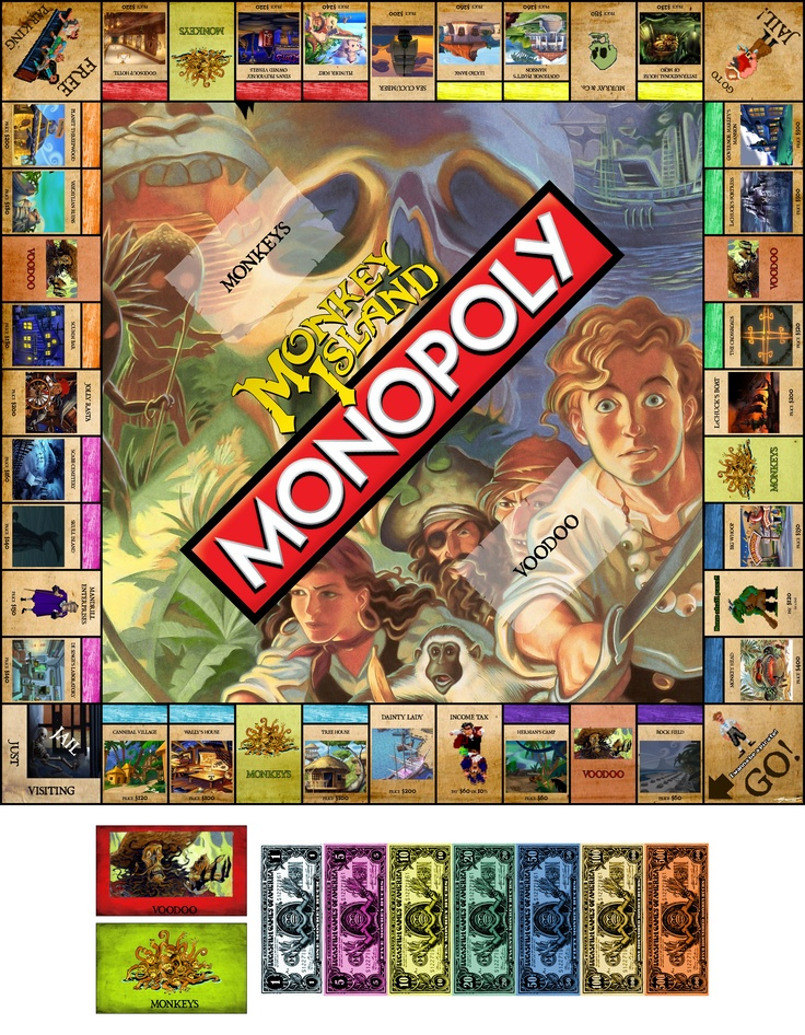 Monkey Island Monopoly....I want to be Guybrush!