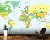 Detailed World Map wall mural kitchen preview