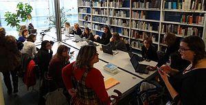 Premier « editathon » consacré aux femmes de sciences sur Wikipédia. Ce projet a été mené avec la Fondation L'Oréal pour les femmes et la science et la bibliothèque d'histoire des sciences de la Cité des sciences et de l'industrie.