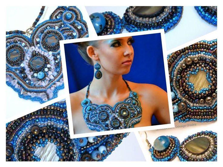 Un vis in albastru... #colier #handmade #emroidering #necklace