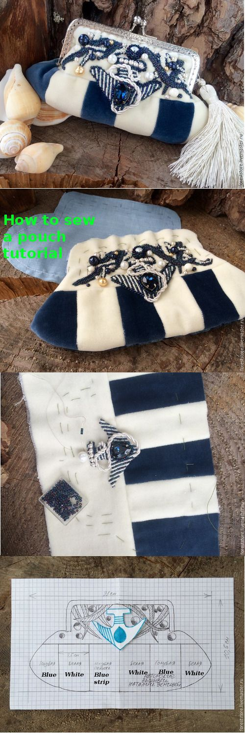 How to sew a pretty pouch step by step tutorial.  http://fastmade.blogspot.com/2016/06/step-by-step-pretty-sea-pouch-tutorial.html