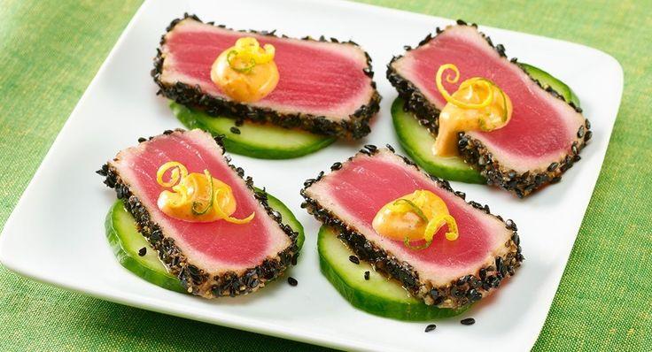 Black Sesame Ahi Tuna with Wasabi Citrus Aioli