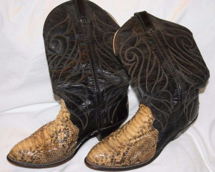Codewest Snakeskin Cowboy Boots Size 8.5M #CodeWest #CowboyWestern
