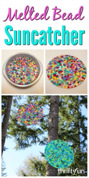 This is a guide about melted bead suncatchers. A creative project you can especially enjoy when the sun shines, is a glass or plastic bead suncatcher.