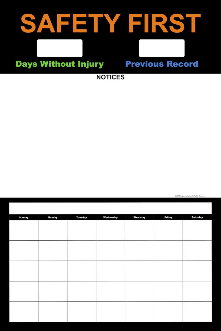 Workplace Safety Log With Calendar - Important safety information must be conveyed through a clean and simplified medium to avoid getting lost in the clutter. Improved communication can motivate employees and team members to reduce operational risks, increase efficiency, and reach performance goals. Worksafe's Safety logs make Workplace Safety simple. Log the consecutive days without an incident. Improve safety communication. Encourage a Safety First workplace…