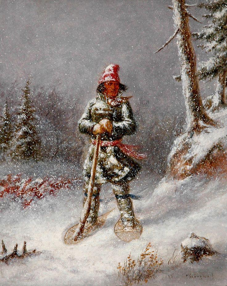 Cacciatore Indiano con Racchette da Neve XVI.