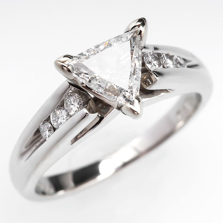 triangle trillion brilliant cut diamond engagement ring. Black Bedroom Furniture Sets. Home Design Ideas