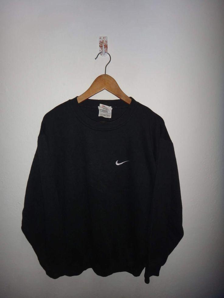 Vintage Nike Nike Swoosh Logo White Stitch Men's Large Sweatshirt Jumper Classic Logo Pull Over by Smokevintageclothing on Etsy