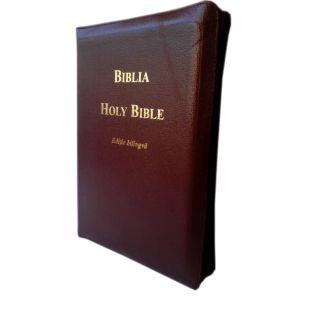 Biblia bilingva romana engleza [cu fermoar], visinie