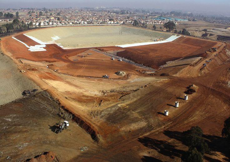 Rietfontein Landfill Cell 5 under constuction