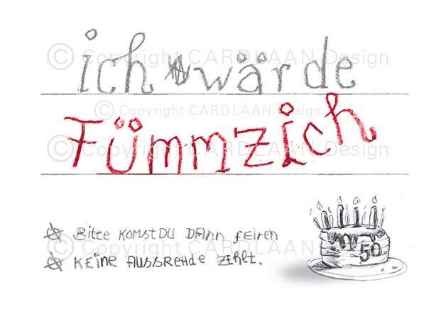 Einladung 50. Geburtstag (Fümmzich)