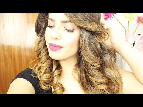 Peinado: Cómo hacer rizos con la plancha(fácil!) | Amarilis Rivera - YouTube