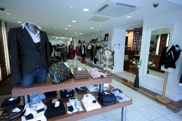 Store Entrance of Rio Brazil, male & female fashion boutique in Belfast, Northern Ireland.