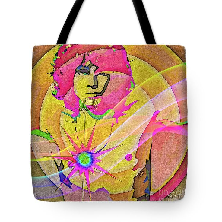 Artist Tote Bag featuring the digital art Rock Star by Eleni Mac Synodinos
