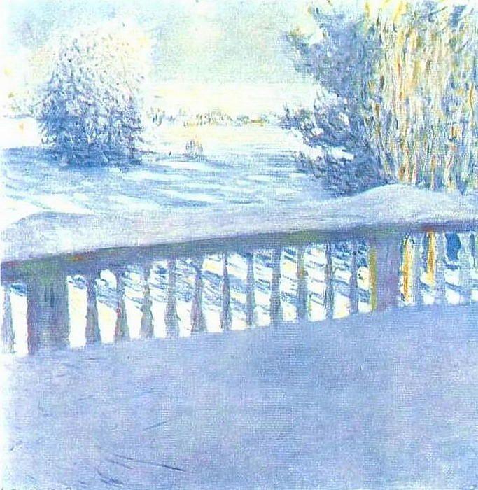 Le Frost. Lever du soleil de Igor Emmanuilovich Grabar (1871-1960, Hungary)