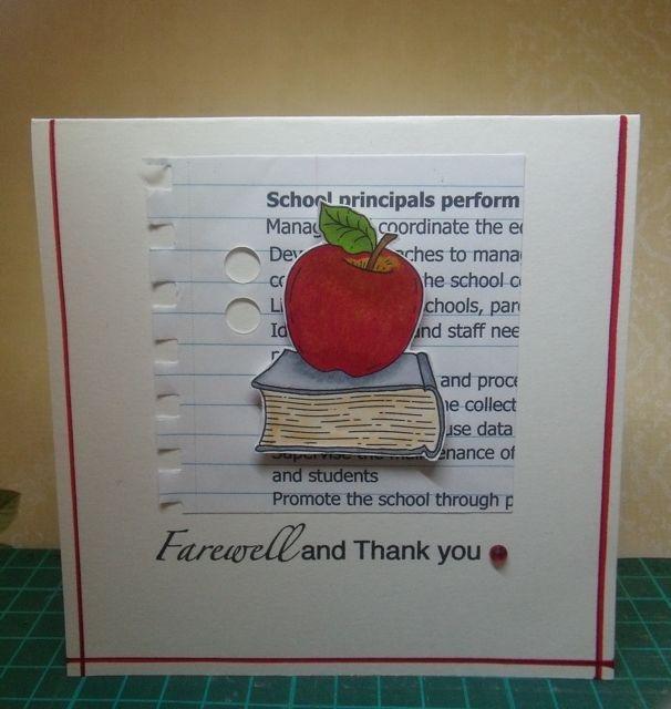 how to make a farewell card for a teacher
