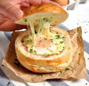 Ham Egg And Cheese Bread Bowls Perfect For Brunch