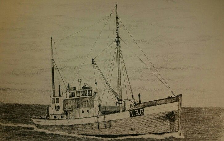 """Avance"" old norwegian fishing vessel used for cod ,and herring fisheries."
