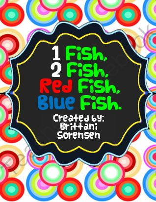 Dr seuss one fish two fish red fish blue fish class for One fish two fish red fish blue fish