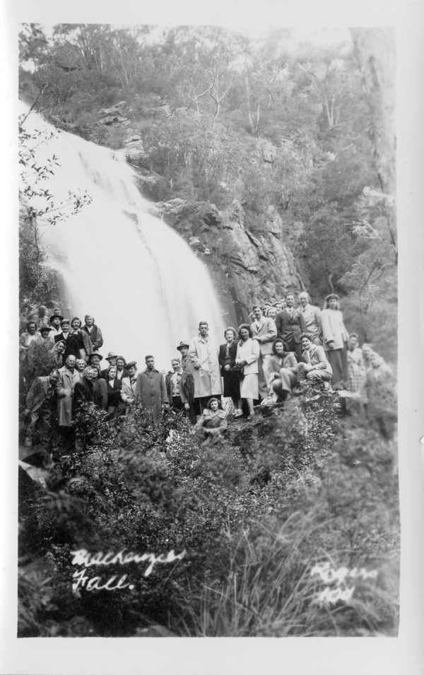 Mackenzies Falls, Grampians National Park (1947). State Library of Victoria.