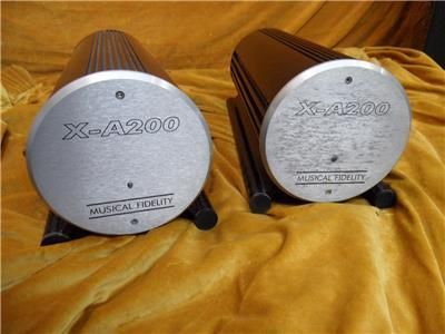 Musical Fidelity X-A200 Mono Amplifiers, used, for sale, secondhand