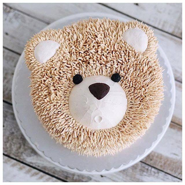 how to make teddy bear cake shape