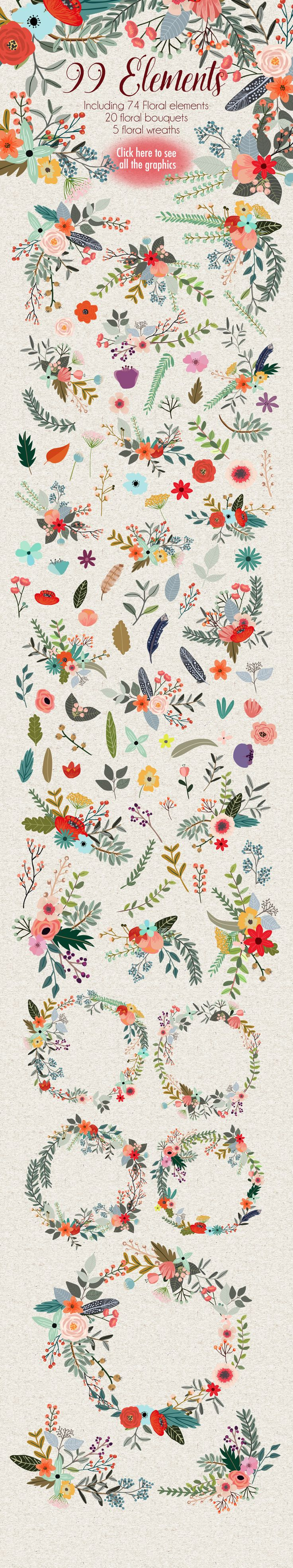 Cute flower clip art!