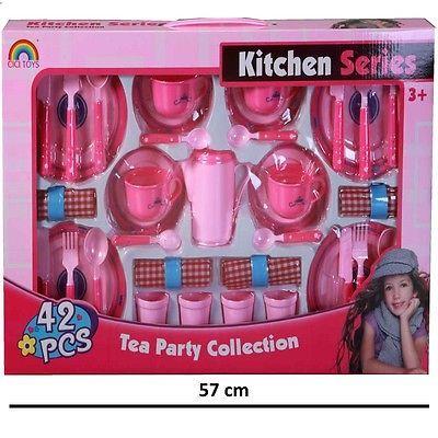 Großes Kinder Tee Service Puppengeschirr Spielzeug Geschirr Spielküche #755