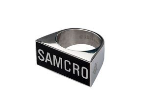 SOA Sons of Anarchy SAMCRO Stainless Steel Ring