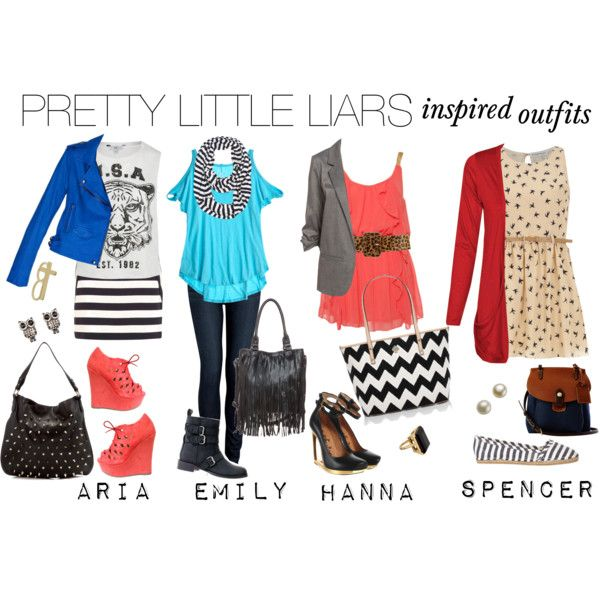 """Pretty Little Liars : inspired outfits"" by liveyourlove on Polyvore"