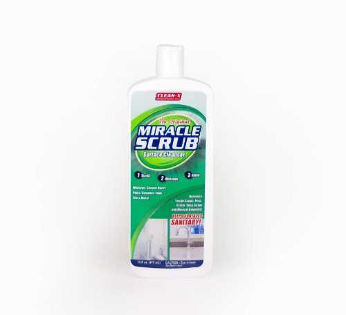 Miracle scrub surface cleaner by clean x removes for Miracle magic bathroom