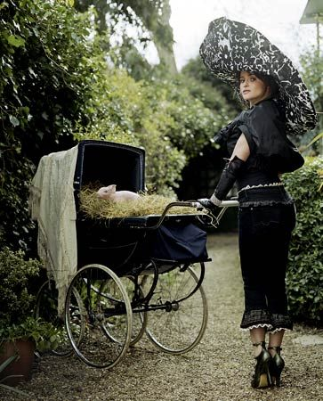 Helena Bonham-Carter has a line of Victorian-inspired clothes called Pantaloonies. That makes me really happy.