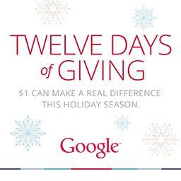 Twelve Days of Giving via Google
