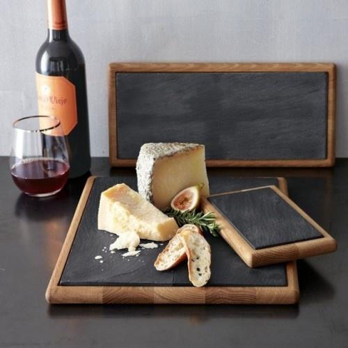 slate + wood platers